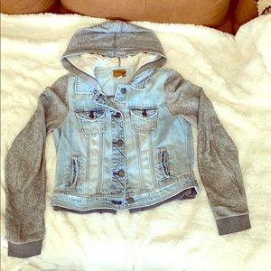 American Eagle denim sweater jacket